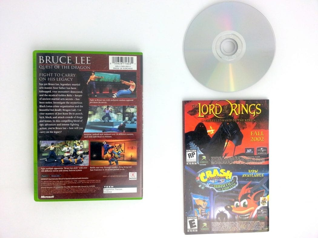 Bruce Lee Quest of the Dragon game for Xbox (Complete) | The Game Guy