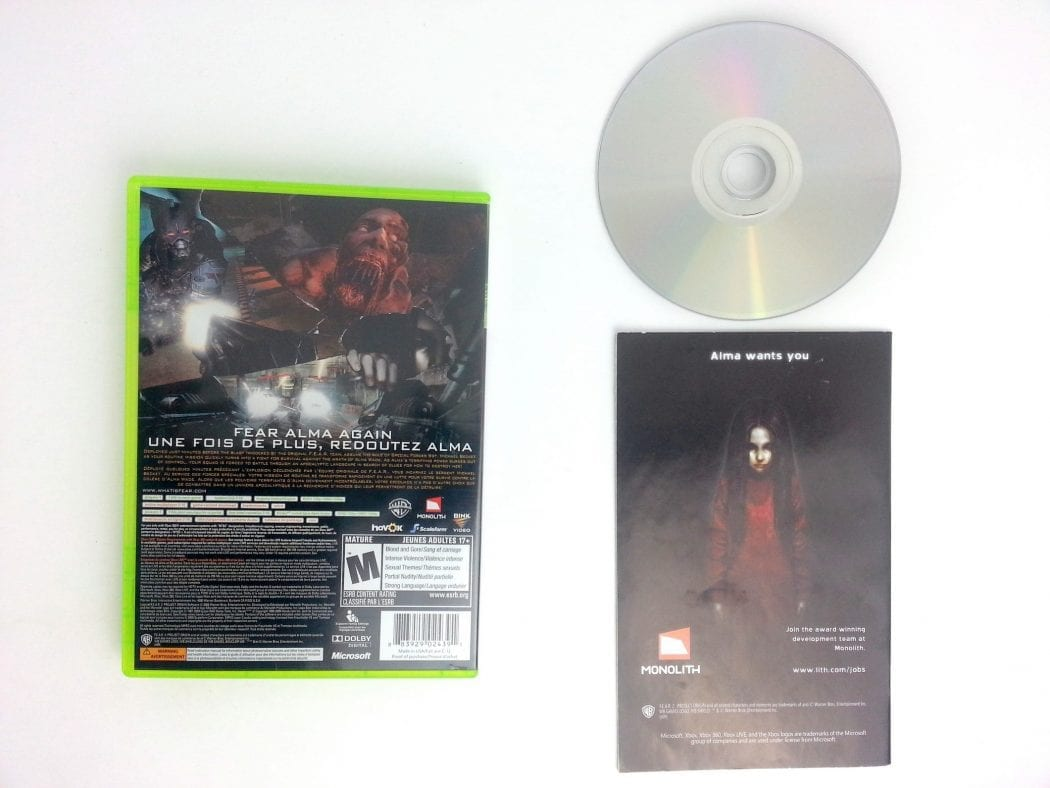 F.E.A.R. 2 Project Origin game for Xbox 360 (Complete)   The Game Guy