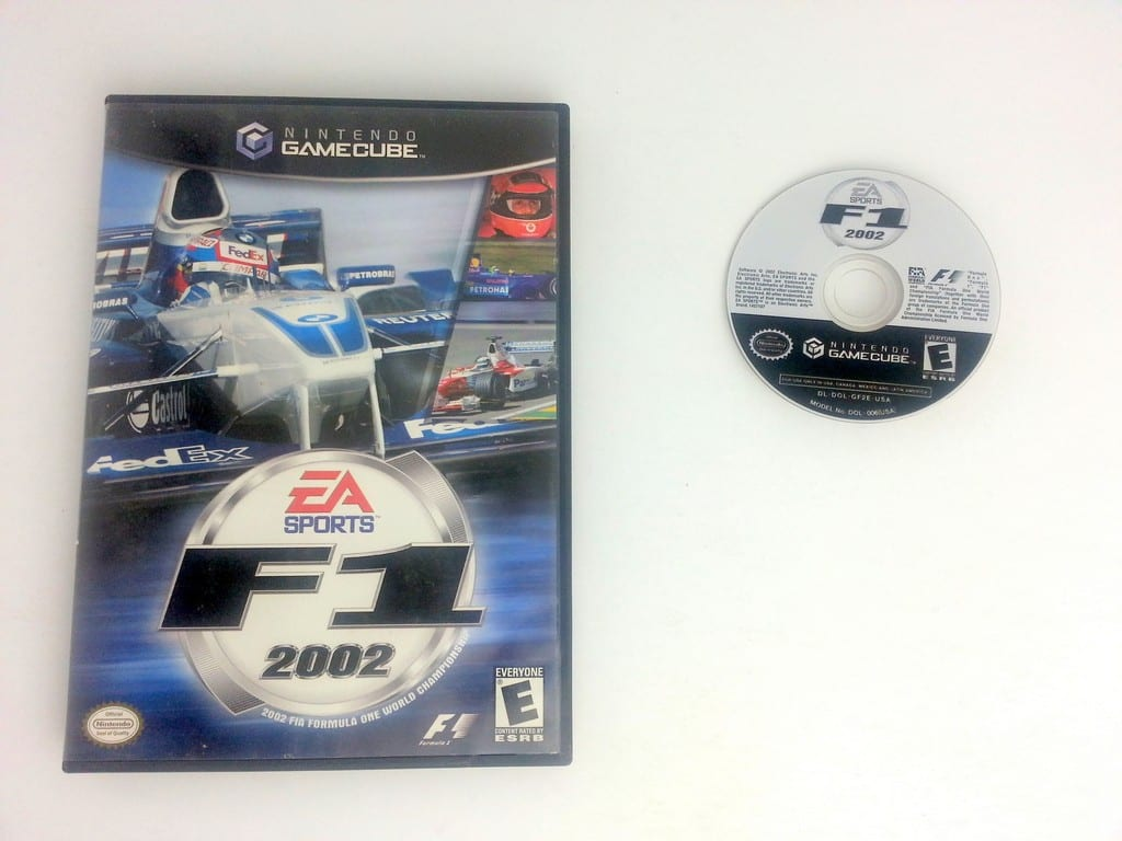 F1 2002 game for Nintendo Gamecube -Game & Case