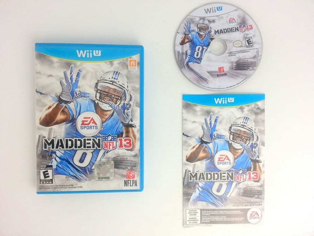 Madden NFL 13 game for Nintendo Wii U -Complete