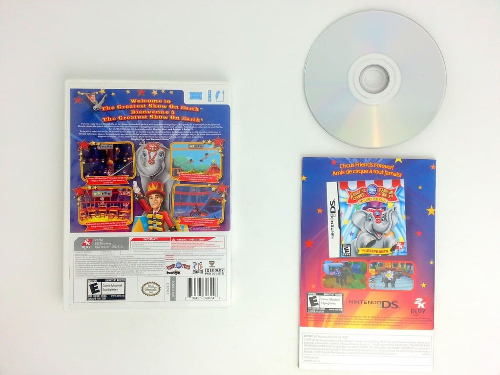 Ringling Bros. and Barnum & Bailey Circus game for Wii (Complete) | The Game Guy