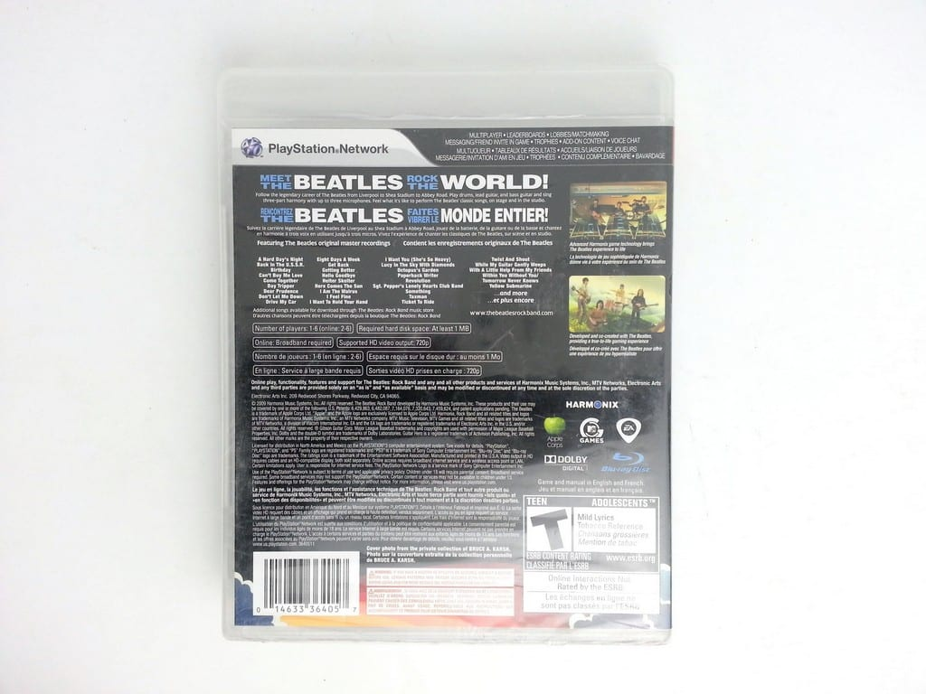 The Beatles: Rock Band game for Sony Playstation 3 PS3 -Complete