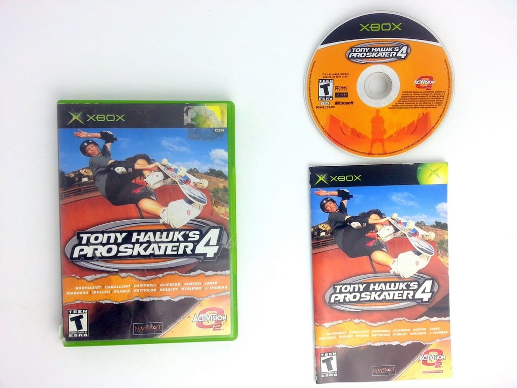 Tony Hawk 4 game for Microsoft Xbox -Complete