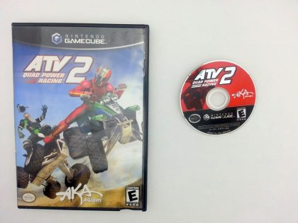 ATV Quad Power Racing 2 game for Nintendo Gamecube -Game & Case