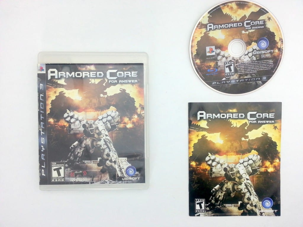 Armored Core For Answer game for Sony Playstation 3 PS3 -Complete