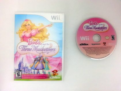 Barbie and the Three Musketeers game for Nintendo Wii -Game & Case