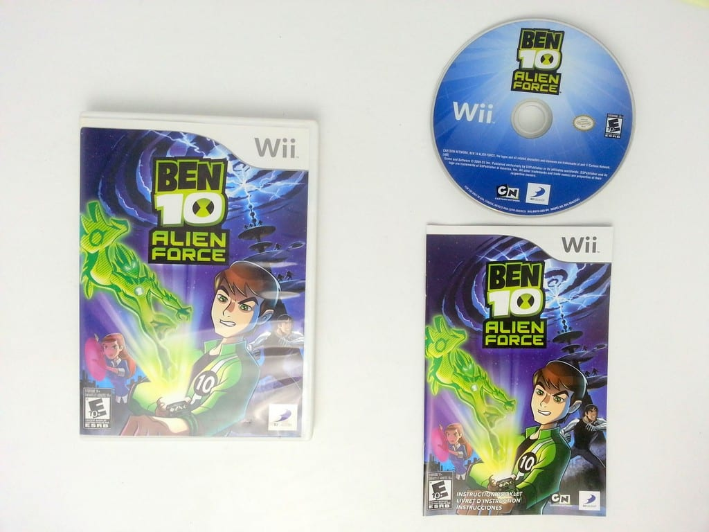 Ben 10 Alien Force game for Nintendo Wii -Complete