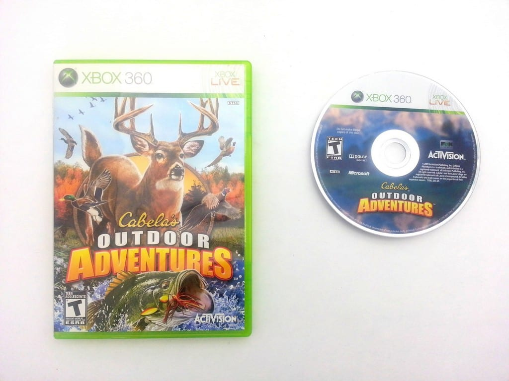 Cabela's Outdoor Adventures 2010 game for Microsoft Xbox 360 -Game & Case