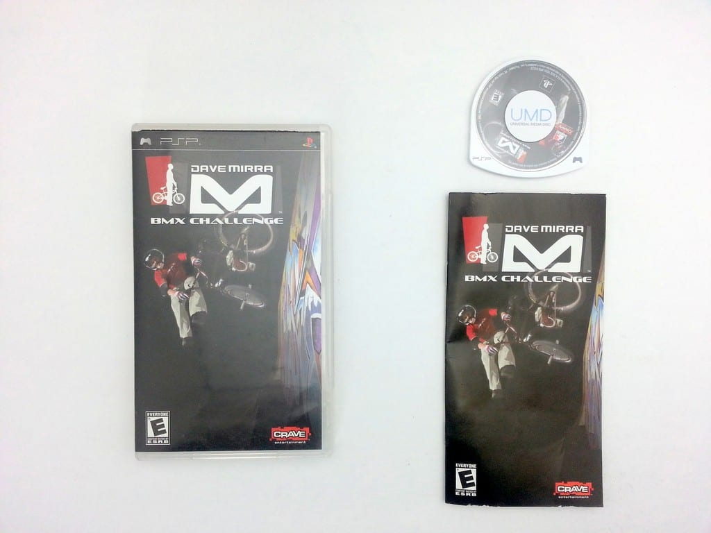 Dave Mirra BMX Challenge game for Sony PSP -Complete