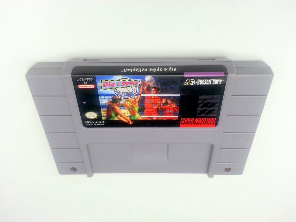 Dig and Spike Volleyball game for Super Nintendo SNES - Loose