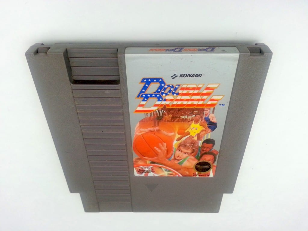 Double Dribble game for Nintendo NES - Loose