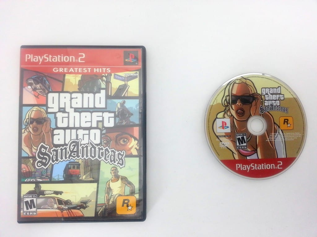Grand Theft Auto San Andreas Greatest Hits game for Playstation 2 PS2 -Game&Case
