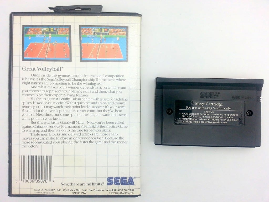 Great Volleyball game for Sega Master System | The Game Guy