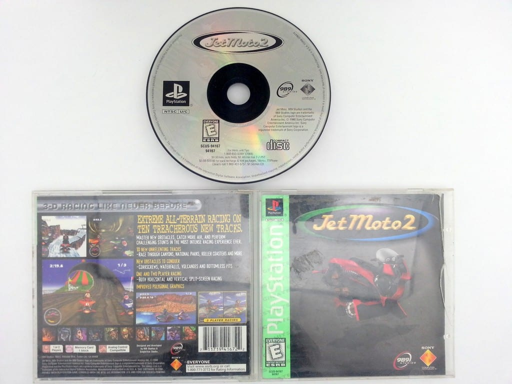 Jet Moto 2 game for Sony Playstation PS1 PSX -Complete