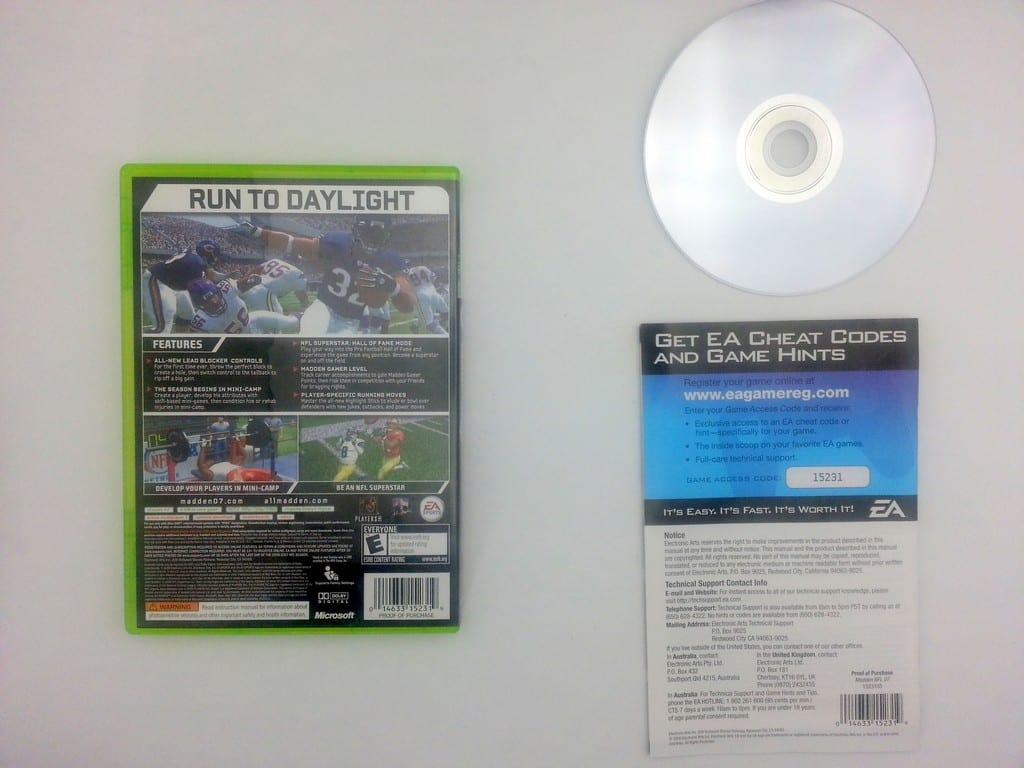 Madden 2007 game for Microsoft Xbox 360 -Complete