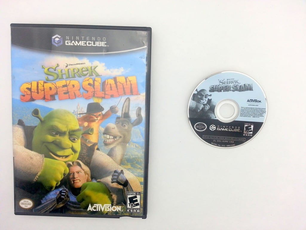 Shrek Superslam game for Nintendo Gamecube -Game & Case