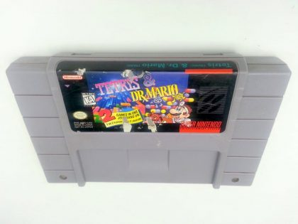 Tetris and Dr. Mario game for Super Nintendo SNES - Loose