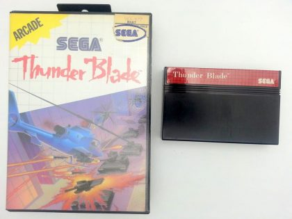 Thunder Blade game for Sega Master System -Game & Case