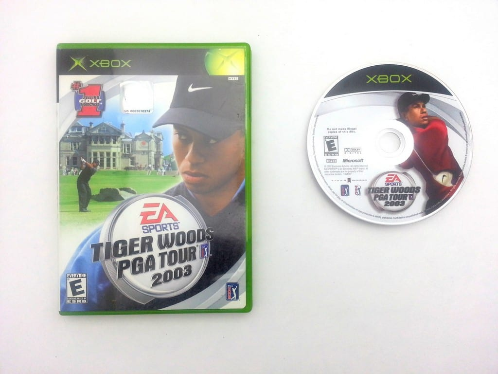 Tiger Woods 2003 game for Microsoft Xbox -Game & Case