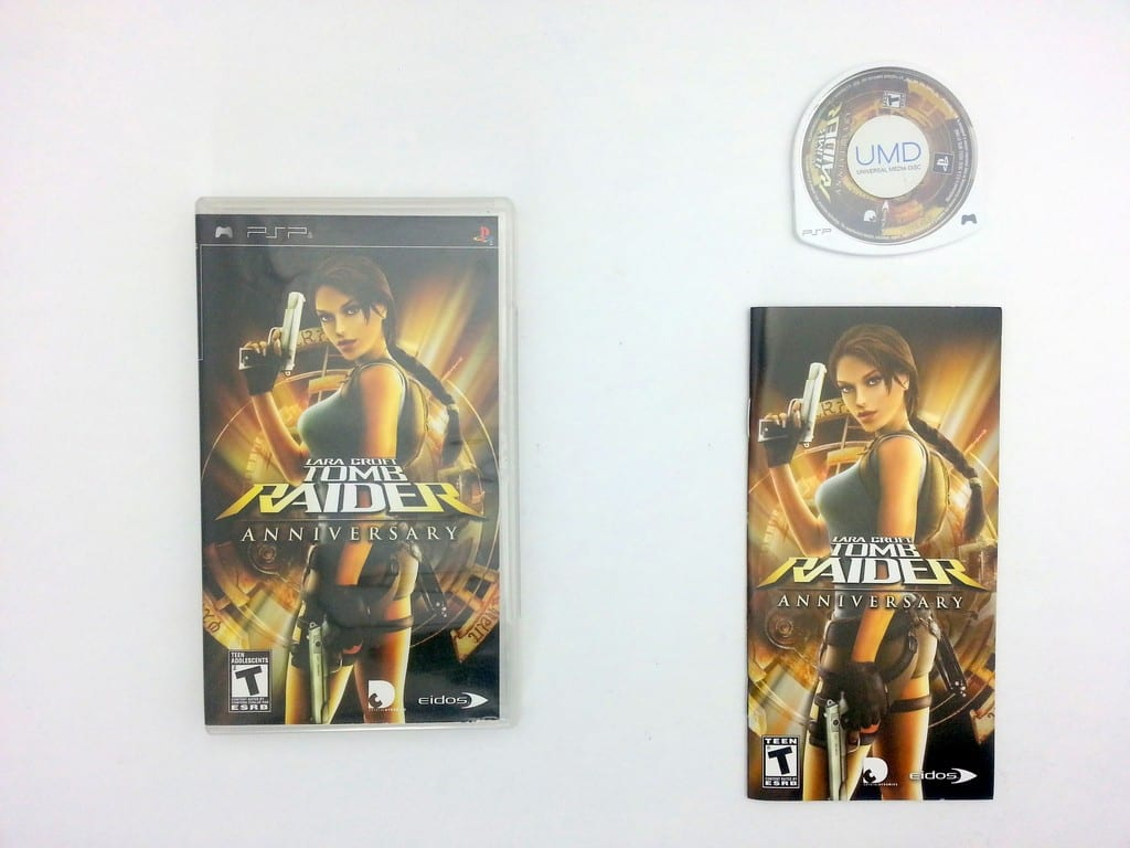 Tomb Raider Anniversary game for Sony PSP -Ga?me & Case