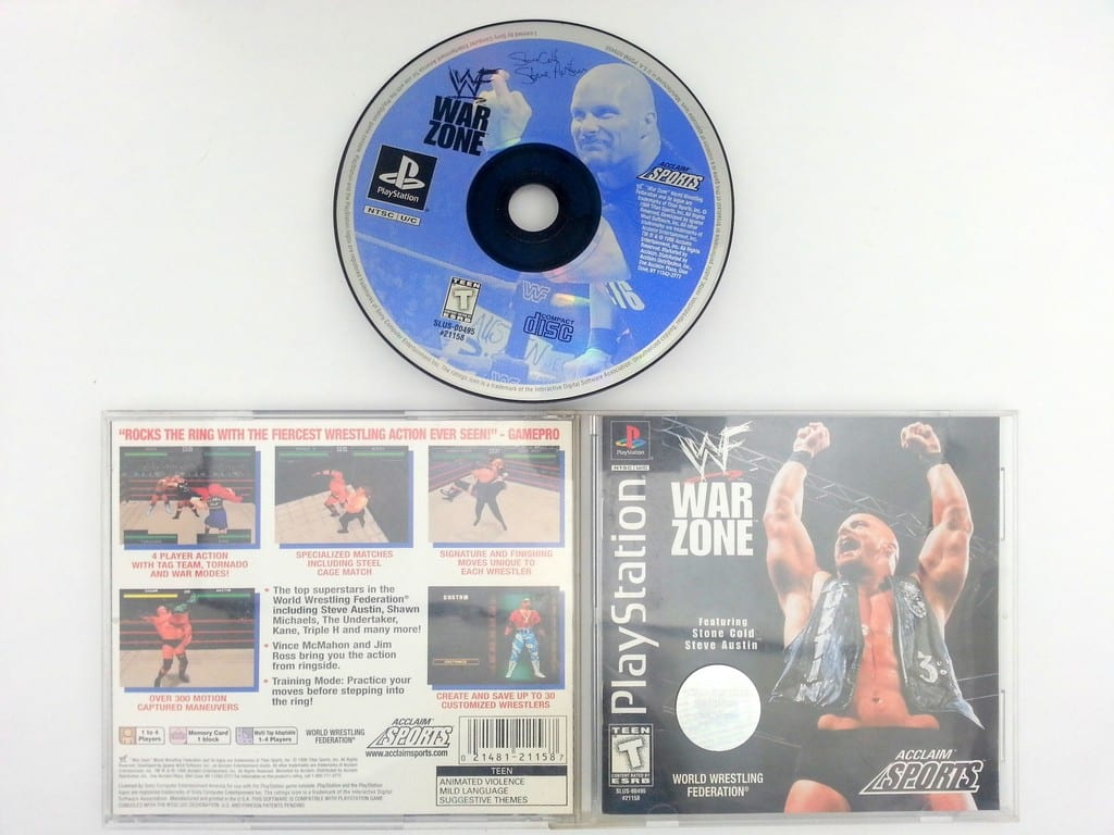 WWF Warzone game for Sony Playstation PS1 PSX -Complete