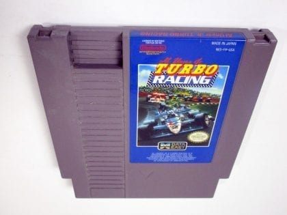 Al Unser Turbo Racing game for Nintendo NES - Loose