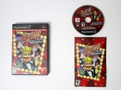 Buzz!: The Hollywood Quiz game for Sony Playstation 2 PS2 -Complete