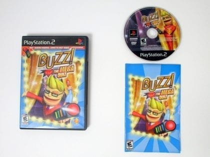 Buzz The Mega Quiz game for Sony Playstation 2 PS2 -Complete
