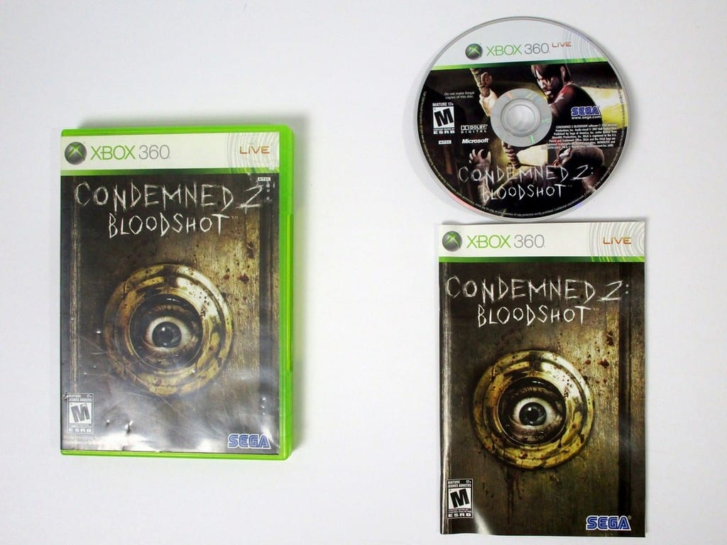 Condemned 2 Bloodshot game for Microsoft Xbox 360 -Complete