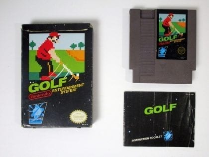 Golf game for Nintendo NES -Complete