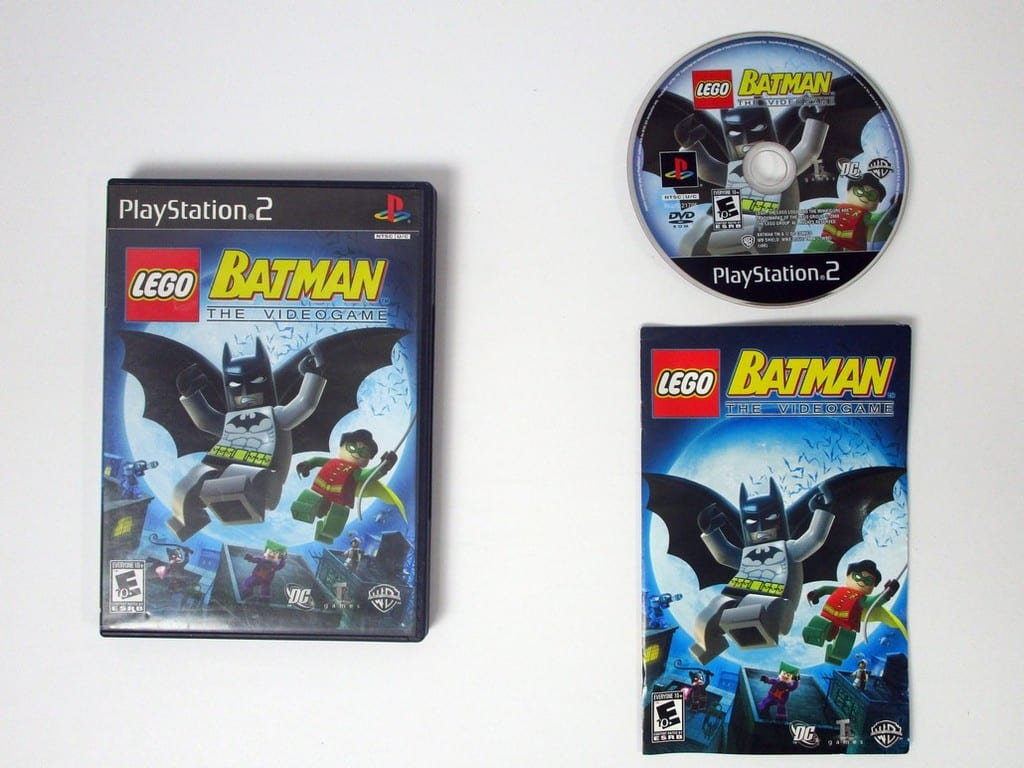 Lego Batman The Videogame Game For Playstation 2 Complete The