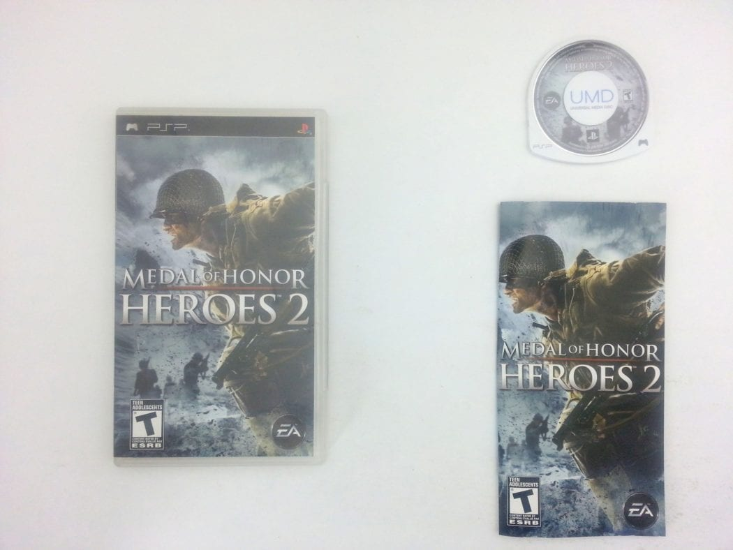 Medal of Honor Heroes 2 game for Sony PSP -Complete