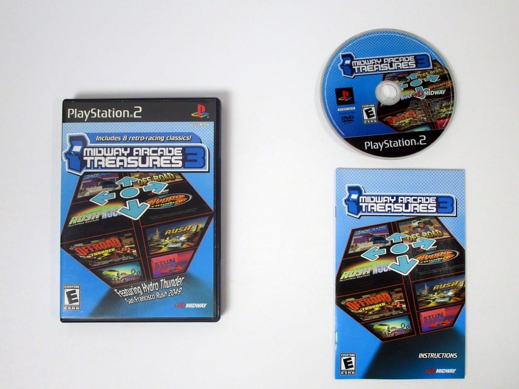 Midway Arcade Treasures 3 game for Sony Playstation 2 PS2 -Complete