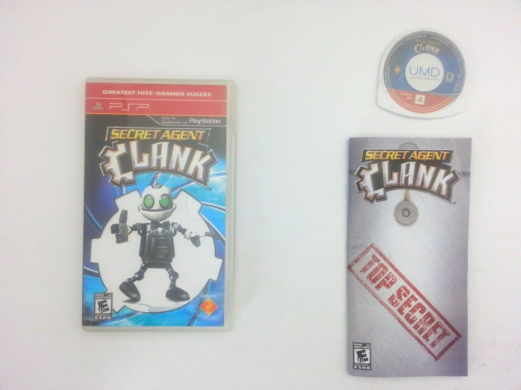 Secret Agent Clank game for Sony PSP -Complete