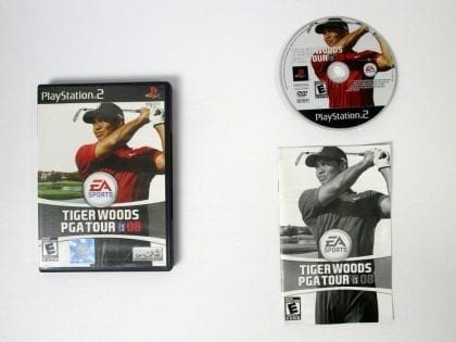 Tiger Woods PGA Tour 08 game for Sony Playstation 2 PS2 -Complete