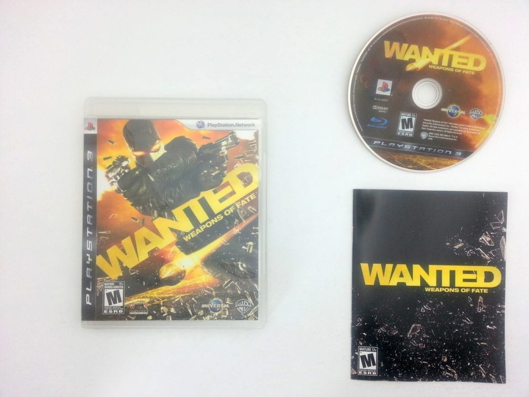 Wanted: Weapons of Fate game for Sony Playstation 3 PS3 -Complete