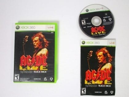 AC/DC Live Rock Band Track Pack game for Microsoft Xbox 360 -Complete