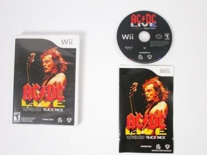 AC/DC Live Rock Band Track Pack game for Nintendo Wii -Complete