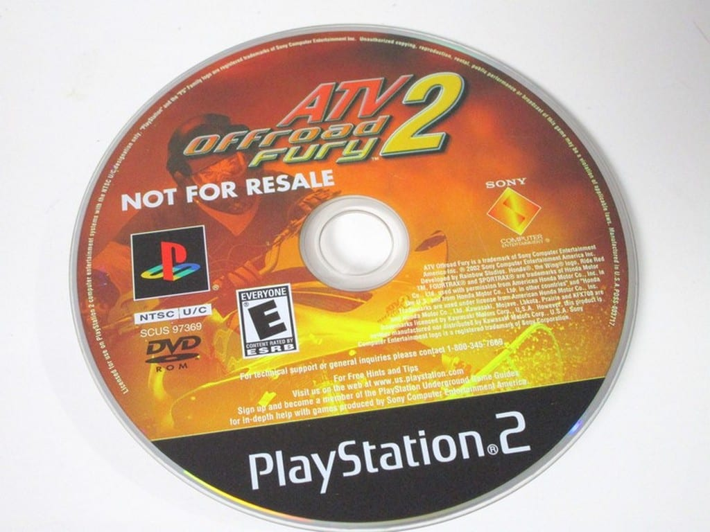 ATV Offroad Fury 2 game for Sony Playstation 2 PS2 - Loose