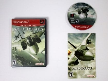 Ace Combat 5 Unsung War game for Sony Playstation 2 PS2 -Complete