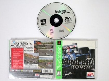 Andretti Racing game for Sony Playstation PS1 PSX -Complete