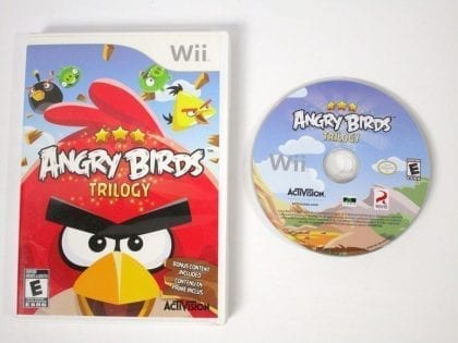 Angry Birds Trilogy game for Nintendo Wii -Game & Case