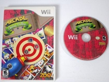 Arcade Shooting Gallery game for Nintendo Wii -Game & Case