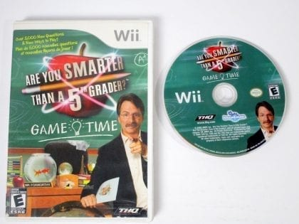 Are You Smarter Than A 5th Grader? Game Time game for Nintendo Wii -Game & Case