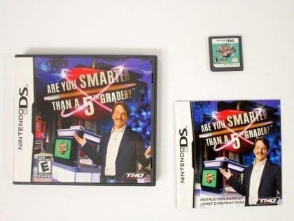 Are You Smarter Than A 5th Grader? game for Nintendo DS -Complete