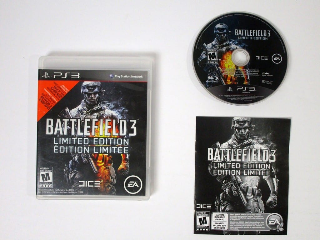 Battlefield 3 Limited Edition game for Sony Playstation 3 PS3 -Complete