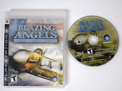 Blazing Angels Squadrons of WWII game for Sony Playstation 3 PS3 -Game & Case