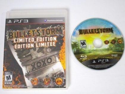 Bulletstorm game for Sony Playstation 3 PS3 -Game & Case
