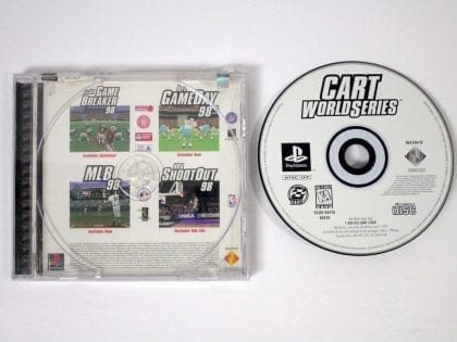 CART World Series game for Sony Playstation PS1 PSX -Game & Case