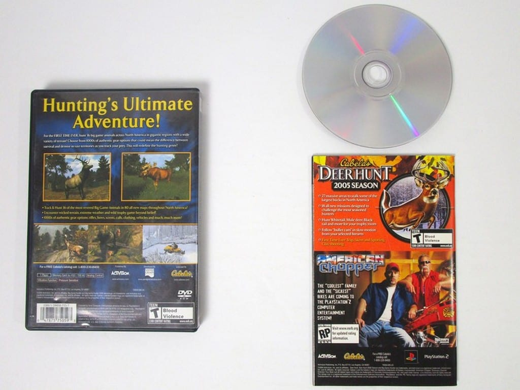 Cabela's Big Game Hunter 2005 Adventures game for Playstation 2 (Complete)   The Game Guy